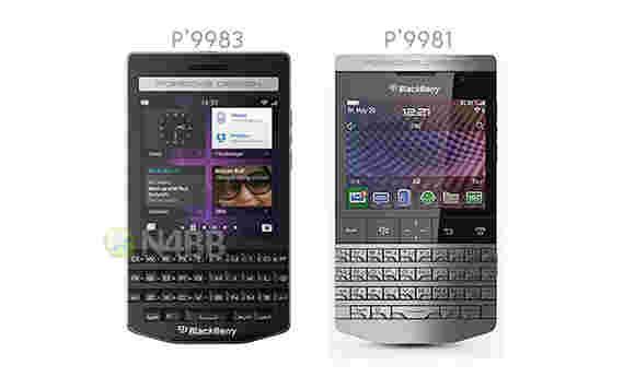 未宣布的黑莓保时捷设计P'9983出现