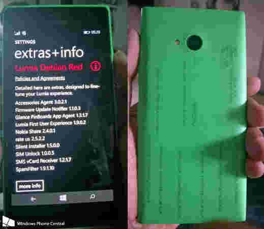 诺基亚Lumia 730首次泄露的照片
