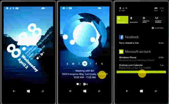 Windows Phone 8.1即将推出新锁屏