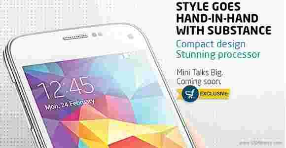 三星Galaxy S5 Mini将在印度独家Flipkart