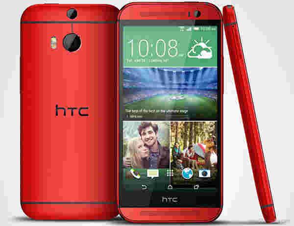HTC One(M8)现在在英国提供红色和粉红色