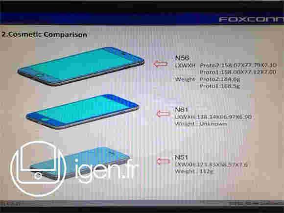 """涉嫌4.7""""和5.5""""iPhone 6原型泄漏的尺寸"""
