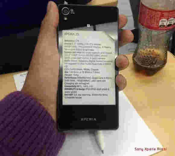 据称索尼Xperia Z3规范贴纸揭示了所有