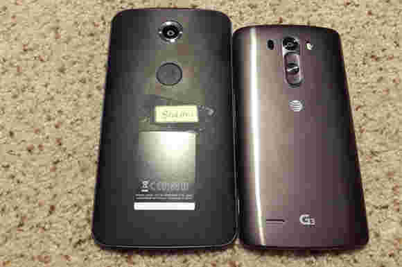 所谓的摩托罗拉Nexus 6出现在LG G3旁边的现场照片中