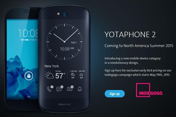 为美国发射的yotaphone 2的众人挤满了