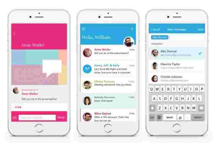 Microsoft Unveils发送,简单的电子邮件客户端,用于快速聊天