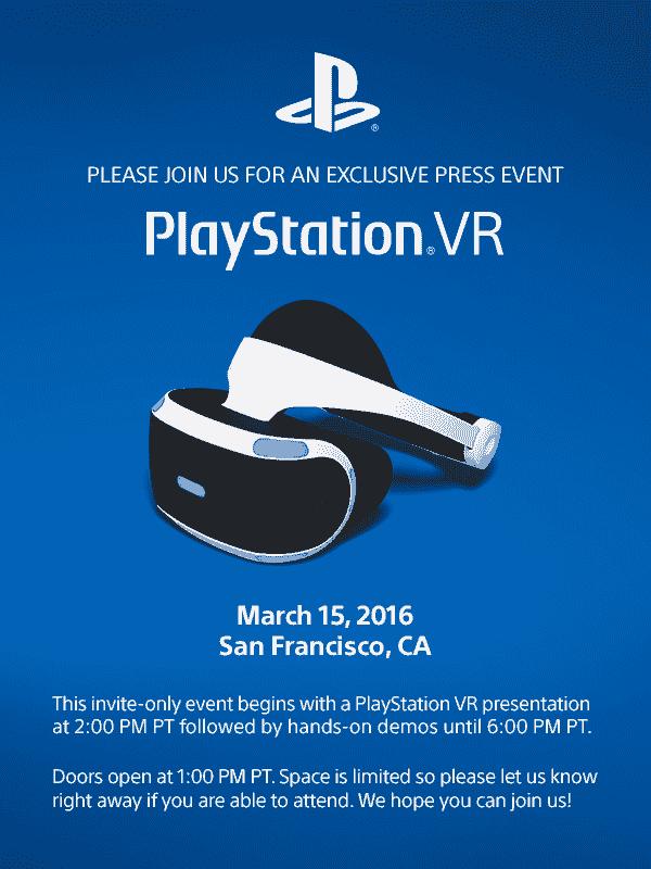 PlayStation VR按下下个月的活动设置,邀请发出