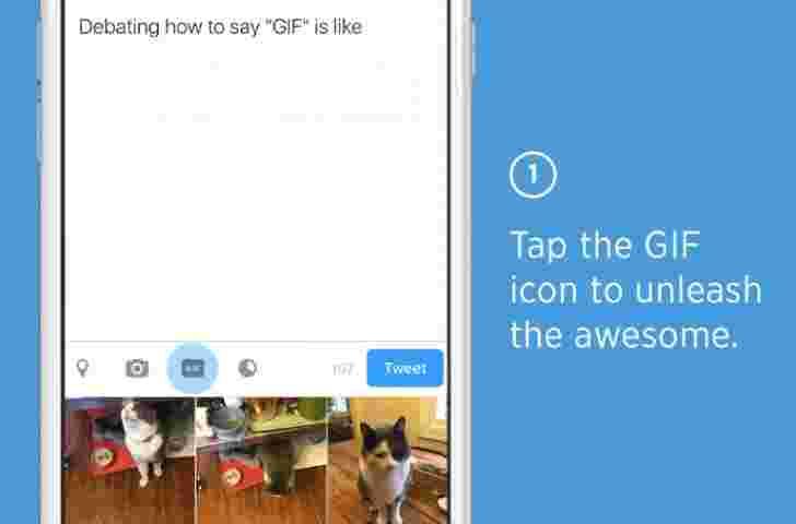 Twitter启动GIF搜索按钮