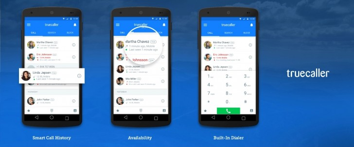 TrueCaller获取拨号器,可用性状态和新UI