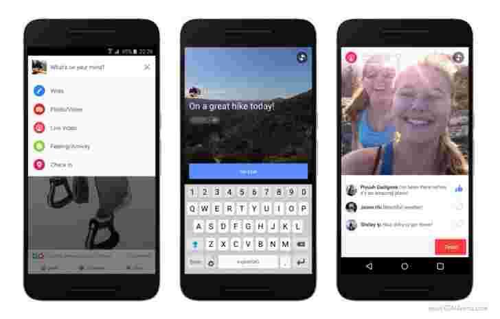 Facebook在接下来的几天内在Android上的Live视频流落地