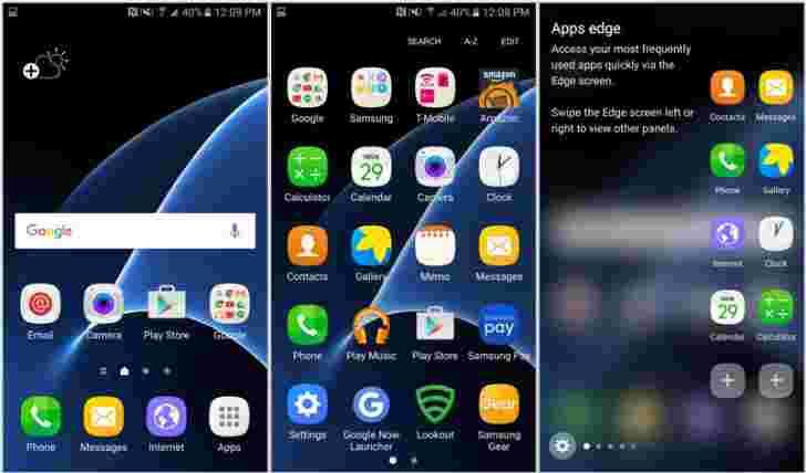 幸运的客户早期获得Galaxy S7 Edge,截图Galore