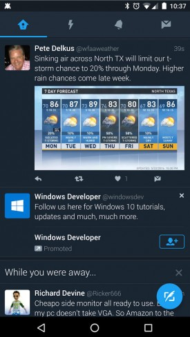 Twitter,可以在夜间自动激活一个黑暗的UI