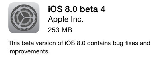 iOS 8 Beta 4现在可用于开发人员