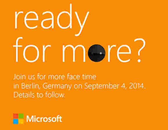 Microsoft戏弄诺基亚Lumia 830 IFA活动邀请